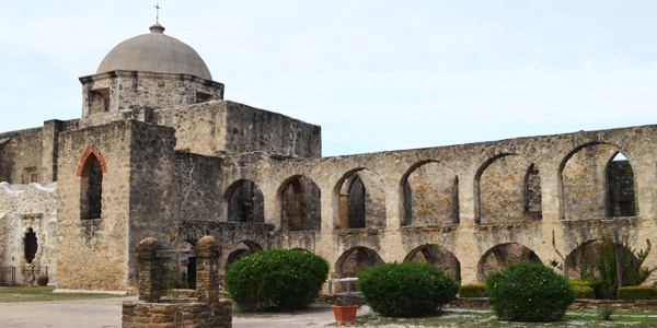 One of the many buildings at Missions National Park in San Antonio Texas
